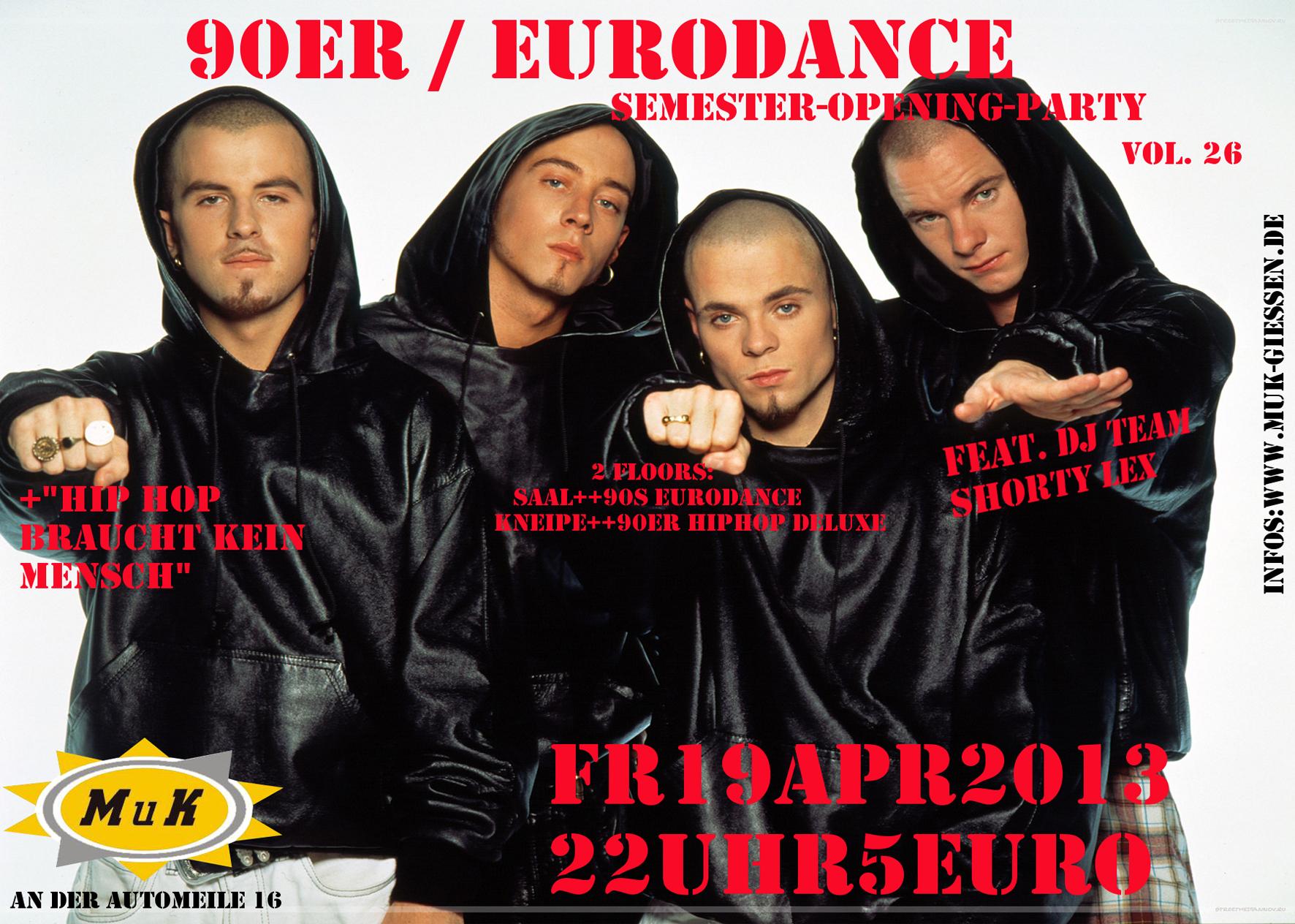 Party: 90er Eurodance & HipHop braucht kein Mensch