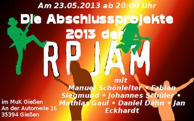 Live: Abschlussprojekte 2013 – Rock Pop Jazz Akademie Mittelhessen
