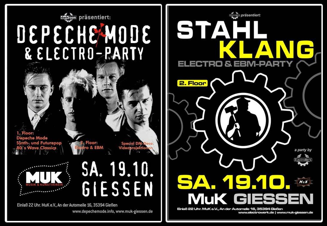 Depeche Mode- & Electro/EBM-Party auf 2 Floors